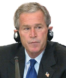 Bush in headphones